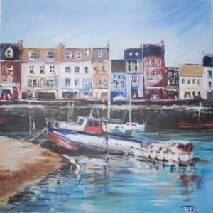Port painting by Elaine Coe
